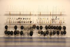 Now that's a wall of fencing gear... one might think the French grip would be utilized by some body??...