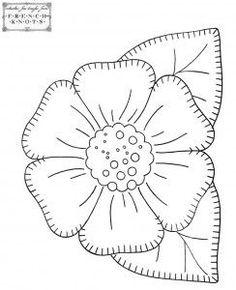 flor para aplicação ou bordar