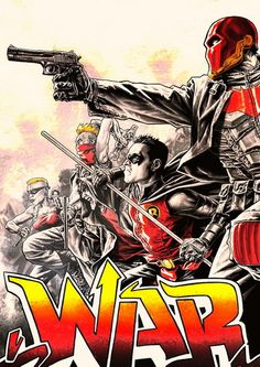 Robin War - by Lee Bermejo Comic Book Characters, Comic Character, Comic Books, Dc Comics, Batman Comics, Nightwing, Batgirl, Court Of Owls, Red Hood Jason Todd