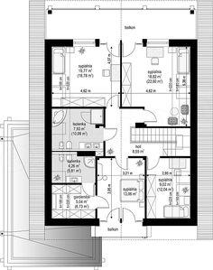 Projekt domu Otwarty 4 171,54 m2 - koszt budowy 247 tys. zł - EXTRADOM House Plans, Floor Plans, How To Plan, Arquitetura, Architectural Plants, House, Blueprints For Homes, House Floor Plans, Floor Plan Drawing