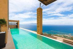 The wonderful design of the pool of Ravdoucha Villas in Crete Luxury Holidays, Crete, Villas, Inspiration, Design, Biblical Inspiration, Mansions, Design Comics, Villa