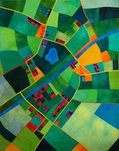 Love the concept of bird's-eye view and the colors.  Wonderful.         Town --- Alicia Merritt