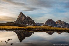 The reflection at Passo Giau by hanskrusephotography