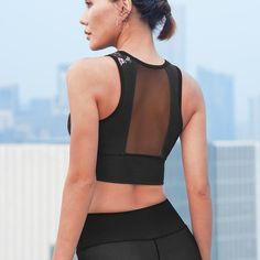 Strict Laisiyi 2019 Breathable Mesh Anti-shock Push Up Stretch Net Yarn Sports Bra Women Hooded Vest Fitness Running Bralette Tank Tops Women's Clothing