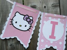 hello kitty banner I am 1 high chair banner by 2inspiredcrafters, $15.00