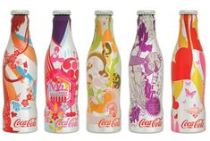 The Coca-Cola Contour Bottle. The contour bottle continues to inspire creativity with today's leading designers. In 2005, Coca-Cola partnered with five of the world's top design firms to develop the Coca-Cola M5 collection of contour aluminium bottles.