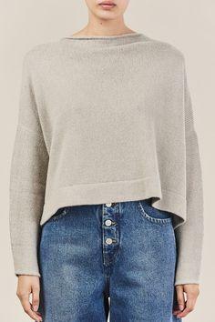 Lauren Manoogian - Boatneck Pullover Sweater, Cement Boat Neck, Cement, Pullover  Sweaters, 0fdce4e095