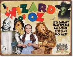 Wizard Of Oz Anniv. Sign is a brand new vintage sign made to look vintage, old, antique, retro. Purchase your vintage sign from the Vintage Sign Shack and save. Judy Garland, Wizard Of Oz Cast, Jack Haley, Vintage Tin Signs, Retro Vintage, Tin Man, 70th Anniversary, Wicked Witch, Advertising Signs
