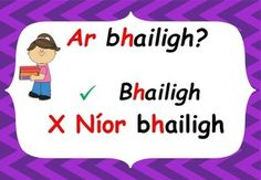 Gaeilge Aimsir Chaite (Irish past tense rules poster set) Tenses Rules, Irish Language, Past Tense, Classroom Displays, Grammar, Writing, Words, Poster, Posters