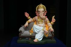 Make this Ganesha Chathurthi 2020 special with rituals and ceremonies. Lord Ganesha is a powerful god that removes Hurdles, grants Wealth, Knowledge & Wisdom. Jai Ganesh, Ganesh Lord, Ganesh Idol, Ganesh Statue, Shree Ganesh, Ganesha Art, Clay Ganesha, Shri Hanuman, Krishna