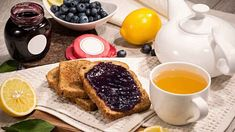 obrázek z archivu ireceptar.cz French Toast, Breakfast, Food, Morning Coffee, Essen, Meals, Yemek, Eten