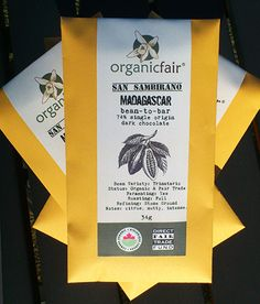 The first of our new Madagascar bean-to-bar chocolate bars via special delivery.