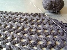I could keep knitting this forever (and on 1.12mm needles I probably will be). It's simple and clever and creates the most intriguing fabri...