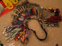 Trad climbing gear on a sling. Not going on my EDC board because you'd jingle too much!