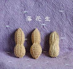 【編み図】ピーナッツ♪