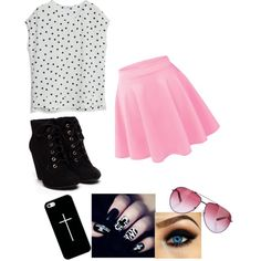 random outfit by bunnykayes on Polyvore featuring polyvore fashion style MANGO STELLA McCARTNEY Casetify
