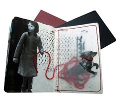 Art Sketchbook with mixed media pages; Inge Nouws