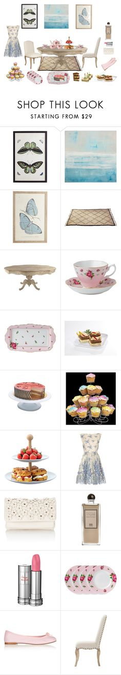 """""""Five o'clock tea"""" by nathalie-puex ❤ liked on Polyvore featuring interior, interiors, interior design, home, home decor, interior decorating, WALL, Royal Albert, Wilton and LSA International"""