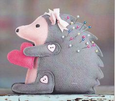 pin cushions patterns free | ... about Bitty Hedgehog Pincushion Pin Cushion Pattern by Bunny Hill