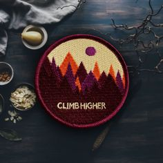 Colorful Mountain Patch (Free Shipping US) Maroon