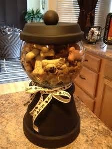 Terra Cotta Pot Pet Treat Jar #DIY #TreatJars #TerraCottaPots #Jars ...
