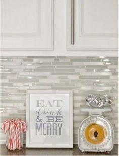 мозаичный фартук на кухне