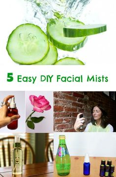 Do you want to have a glowing skin?  Spritz a bit of facial mist to restore moisture on your skin.  Make your own refreshing facial mist with these simple ingredients you can find on your own home. 1. Cooling Cucumber Mist You'll Need: 1 cucumber, peeled 1/2 teaspoon of lemon juice 1 teaspoon of aloe vera …