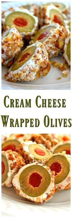 Cream Cheese Wrapped Olives...This is a fantastic little appetizer that only…