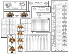 Turkey activities: Cute turkey-themed worksheets, games & activities about numbers, number words & counting.