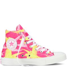 I wantz. Chuck Taylor Birds of Paradise shocking pink