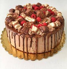 - Kinder bueno torta 🍫🍫🍫 Ha tetszett a mai. Food Porn, Nutella, Tiramisu, Food And Drink, Birthday Cake, Sweets, Cookies, Ethnic Recipes, Profile