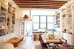 Over 20 Small Apartments (Lofts) Interior Design Ideas Small Space Living, Small Rooms, Small Spaces, Living Spaces, Living Area, Open Spaces, Loft Spaces, Loft Mezzanine, Mezzanine Bedroom