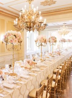 Love this! Glam Candelabra Centerpieces Topped with Flowers #Design, #Flowers, #Romantic, #Ceremony and Reception, #Candelabras, #Floral Centerpieces, #Romantic Centerpieces, #Luxurious Centerpieces, #Centerpieces, #Reception Decor, #Reception Tables, #Tablescapes