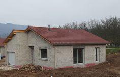 Teja Mixta color Borgoña en construcción