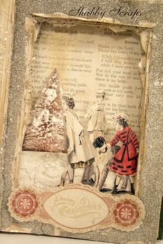 altered book silverbella by shabbyscraps, via Flickr