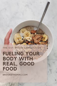 The connection between what you eat and how it affects your body is real! How you fuel your body with food will impact your stress levels, how you FEEL, and even your immune system. Join the mental wellness movement and learn how a healthy gut strengthens your body and improves your mental fitness! #mentalhealth #gutbrainconnection #mentalwellness #guthealth