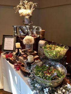 Wedding Catering, Wedding Events, Table Settings, Salad, Table Decorations, Home Decor, Gourmet, Decoration Home, Room Decor