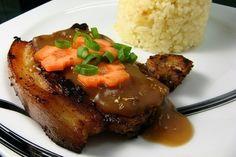 Foto de la receta de chuletas de cerdo en salsa