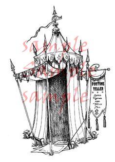 Fortune Teller Tent by Rick St. Dennis