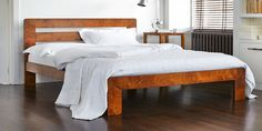Beds > Almond Bed | Warren Evans Danish Bedroom, Warren Evans, Mattress, Beds, Almond, Bedroom Decor, New Homes, Loft, Modern