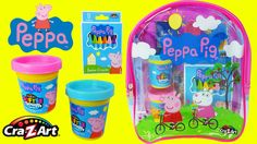 Peppa Pig Backpack Surprise toys videos for children ToyBoxMagic - Here we are opening this super fun Peppa Pig Surprise Backpack filled with all sorts of fun Peppa Pig toys like Play Doh Playdough, stamps and stamp pad, stickers, coloring books and crayons, etc! A cool and fun toy video for kids! Enjoy!