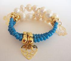62b4b9a5716e PULSERA CHAPA DE ORO Y PERLA DE RIO  México  fashion  accesorios  pulseras   bracelets  sell  mujeres  bisutería  joyería