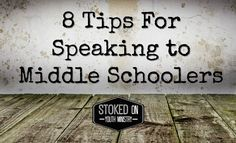 8 Tips For Speaking to Middle Schoolers Youth Ministry, Student Ministry, Middle School Ministry, Church