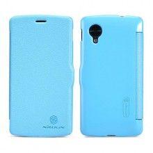 Funda Flip Nexus 5 Nillkin - Fresh Series Slim Flip Leather Case Azul  € 15,99
