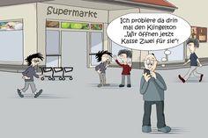 #Gedrängel an der#Kasse im #Supermarkt