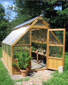 Every thought about how to house those extra items and de-clutter the garden? Building a shed is a popular solution for creating storage space outside the house. Whether you are thinking about having a go and building a shed yourself Diy Greenhouse Plans, Greenhouse Effect, Backyard Greenhouse, Small Greenhouse, Greenhouse Wedding, Backyard Sheds, Backyard Landscaping, Garden Sheds, Backyard Hammock