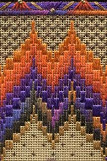 Two-Handed Stitcher needlepoint bargello