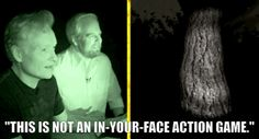 This is not an in-your-face-action game. Conan O'Brien and Aaron Bleyaert play Slender.