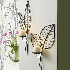 Candle holders wrought iron wall mousse wall candle rack quality Sconce home decoration New Interior Design, Home Design, Wrought Iron Decor, Wall Candle Holders, Wrought Iron Candle Holders, Candle Stand, Iron Furniture, Iron Art, Traditional Decor