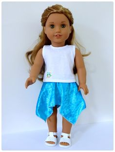 Val Spiers Sews Doll Clothes: Free Hankie Skirt for American Girl Doll and Australian Girl Doll